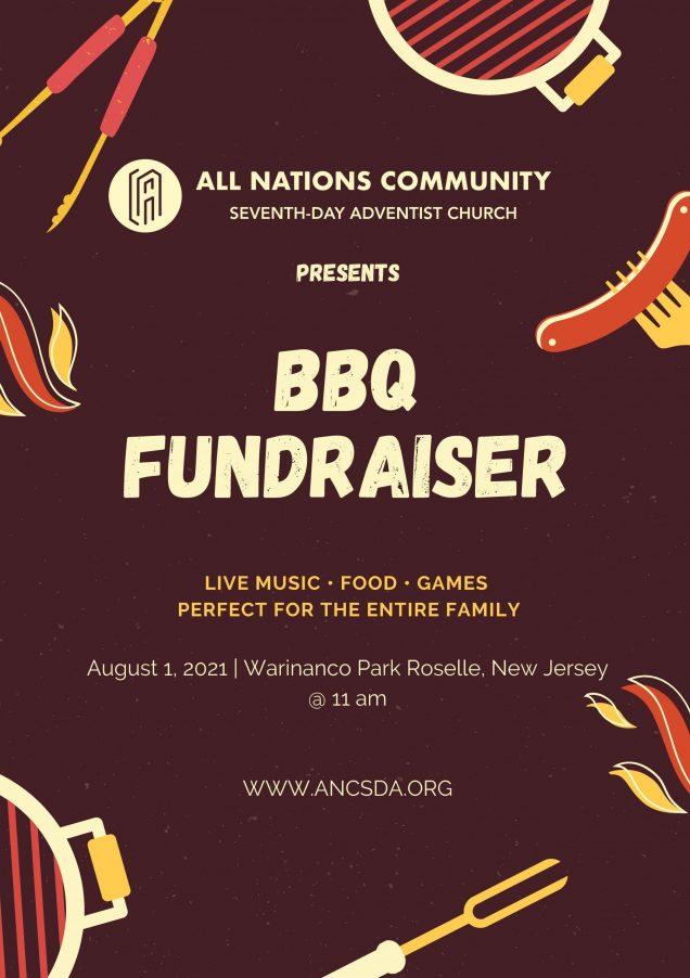 BBQ Fundraiser event flyer 08/01/21